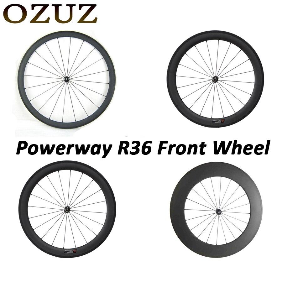 Prix usine droite pull 24mm 38mm 50mm 88mm seulement avant roue pneu tubulaire 3 k mat ou brillant Chine vélo carbone roues