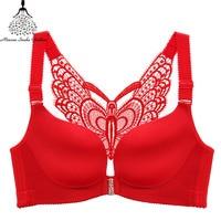 Plus Size Bra Bralette Push Up Bras For Women Lingerie No Wire Lace Brassiere Large Size