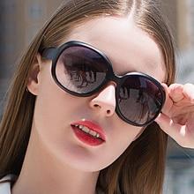 New Fashion Women Black Sunglasses Sun Glasses Vintage Big Round