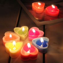 2016 9pcs/lot Multicolor Candle Romantic Wedding Valentine Heart-shaped scented candles Birthday Party Light Decoration