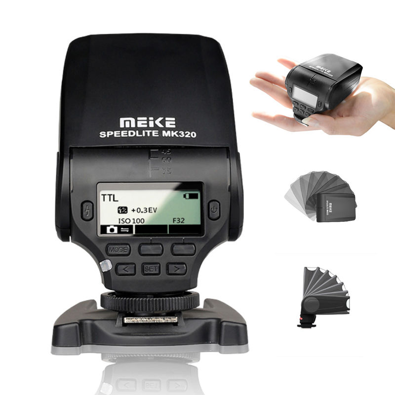 MEIKE MK-320 TTL Flash Speedlite for Panasonic <font><b>Lumix</b></font> DMC GF7 GM5 GH4 GM1 <font><b>GX7</b></font> G6 image