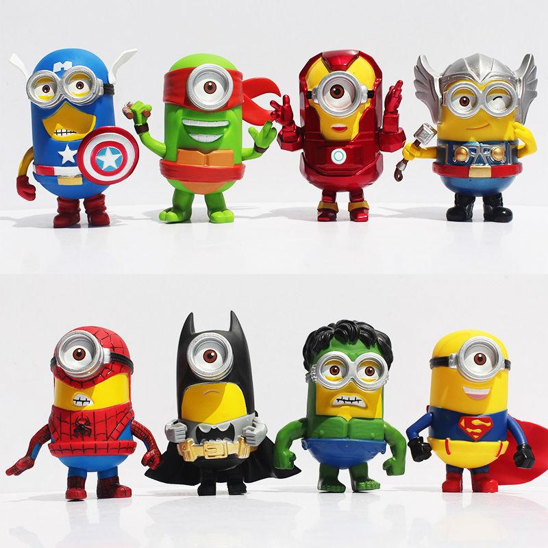 Despicable Me 3 Avengers Minions figures 9cm minion Figure