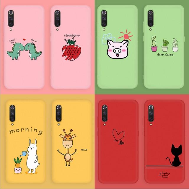 Patrón lindo caso para Xiaomi rojo mi nota 7 6 5 Pro mi 9 SE mi 8 Lite mi 9 funda de silicona suave T Pro para Redmi 7 K20 Pro Cactus