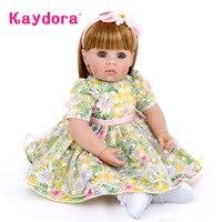 Kaydora 50 CM Princess Doll bonecas princesas Realistic Reborn Babies Dolls For Girls boneca lol bebe reborn Gift Kids Birthday