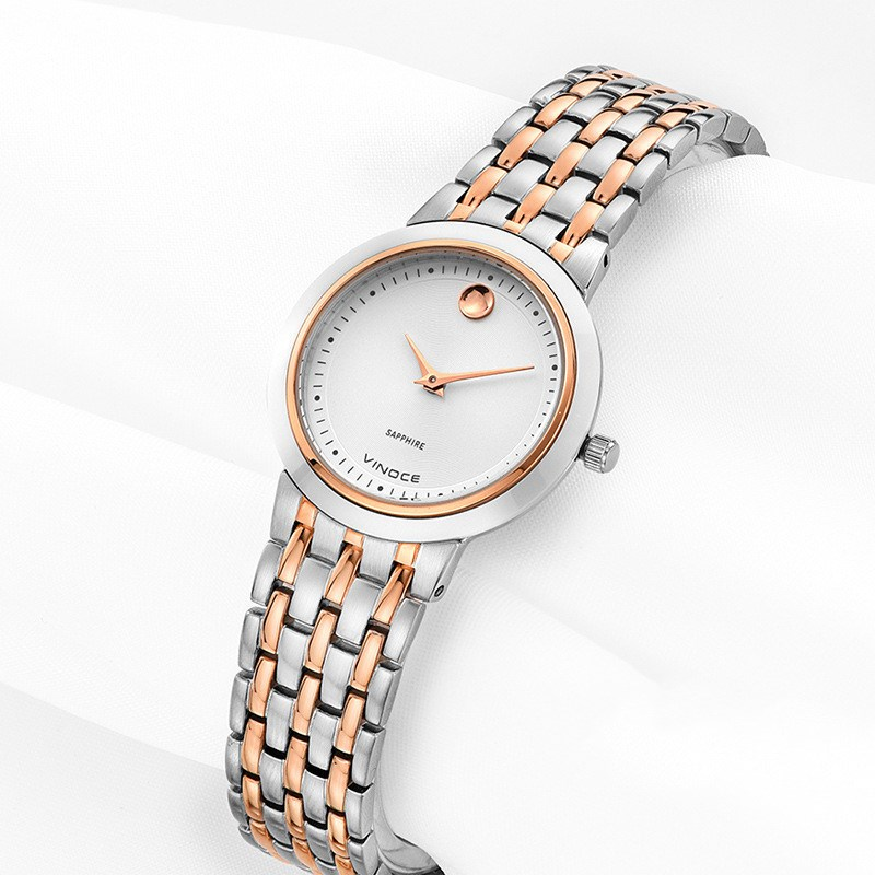 VINOCE Fashioh Women Wrist Watches Gold Watchband Top Brand Luxury Ladies Quartz Clock Female Bracelet watch Montres Femmes 2016 new arrival mens women watches top brand quartz watch lvpai vente chaude de mode de luxe femmes montres femmes bracelet