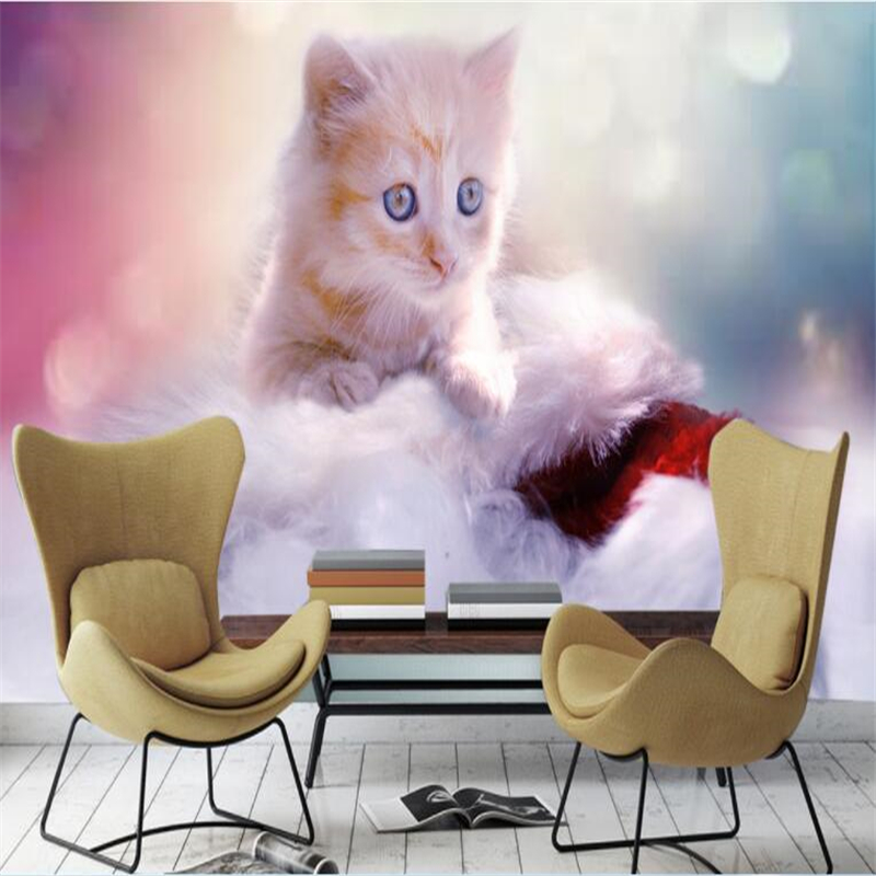 Us 8 7 42 Off Beibehang Custom Mural Photo Freshness Beautiful Dream Cat Cute Children Room Background Wall Paper Papel De Parede 3d In Wallpapers