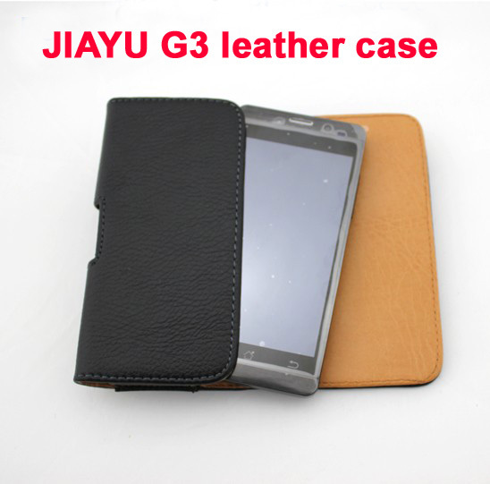 New 100% Original Leather Case Protective g3c phone for JIAYU G3 G3S belt FreeShipping Wholesale Welcome