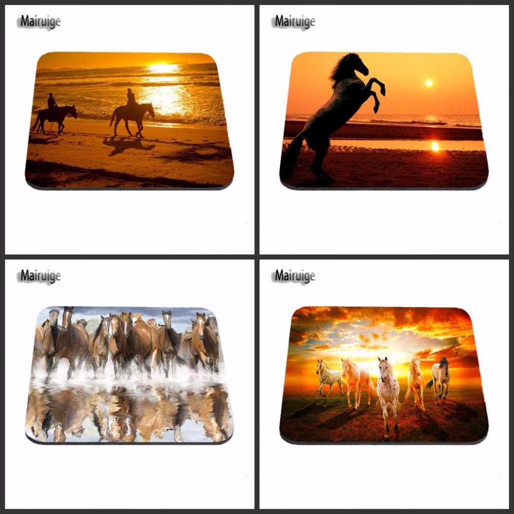 Mairuige Black Horse In the Evening Best On The Beach Game Gaming Mousepads Rubber Pad 18*22CM 25*29cm 25*20cm Mouse Mats