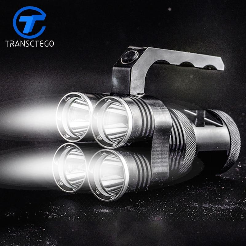 Фотография 40W power 4000 lumens flashlight xm-l2 led torch for fishing searchlight long range outdoor remote portable lamp duiklamp