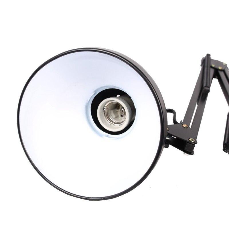 Image 5 - Flexible Swing Arm Clamp Mount Desk Lamp Black Table Light Reading Lamp for Home Office Studio Study 110V 240V for Home Room-in Desk Lamps from Lights & Lighting