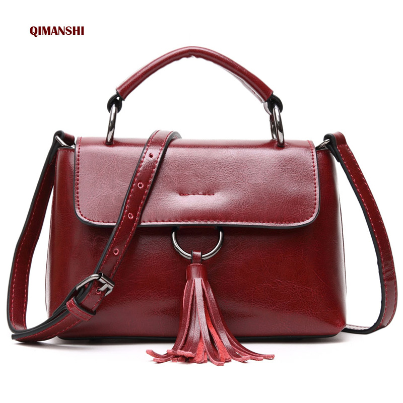 New Arrival Genuine Leather Handbags Women Crossbody Messenger Bags Female Single Shoulder Hasp Bag For Ladies bolsos mujer
