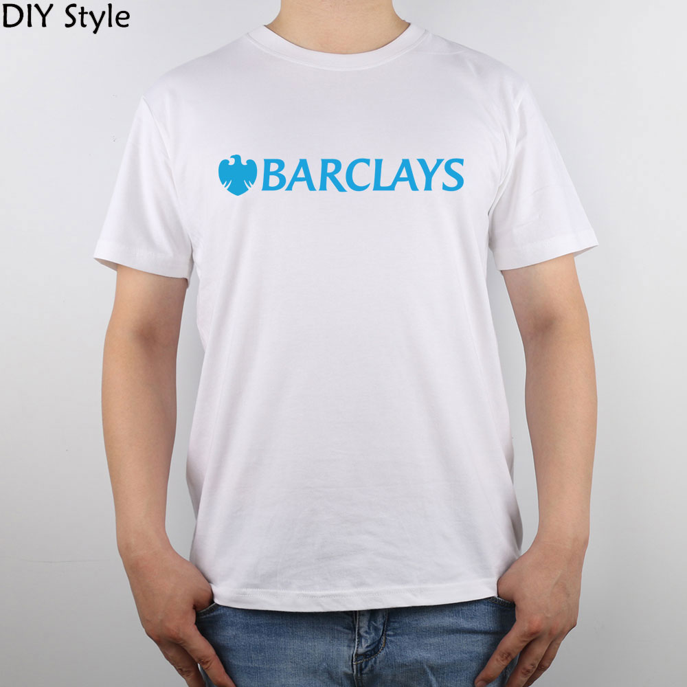 US $12 19 31% OFF|Barclays Logo Finance Bank t shirt Top Pure Cotton Men T  Shirt-in T-Shirts from Men's Clothing on Aliexpress com | Alibaba Group