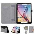 Для Samsung Galaxy Tab S2 9.7 дюймов планшет T810 T815 стойки кожи фолио чехол ( упругой ремешок, Нескольких / держателя карты )