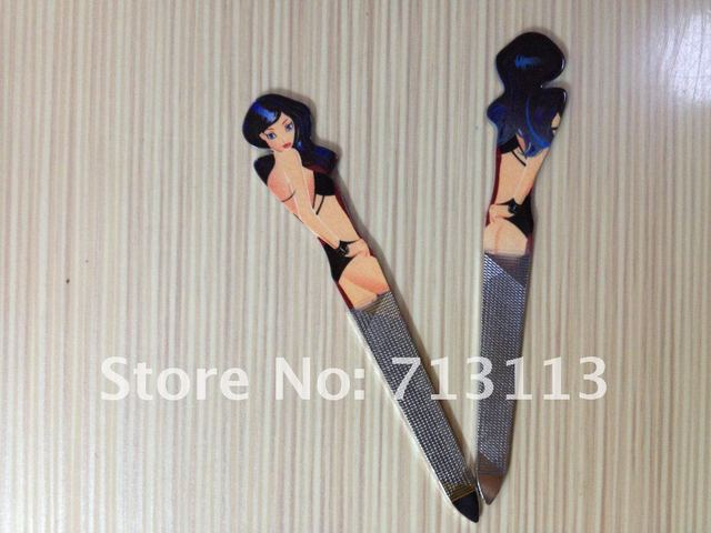 4 IN 1  LOVELY PRINTING (SCISSOR+TWEEZER+FILE+CLIPPER) MANICURE TRAVEL NAIL SET -- SK13 (FREE SHIPPING VIA CHINA AIR POST)