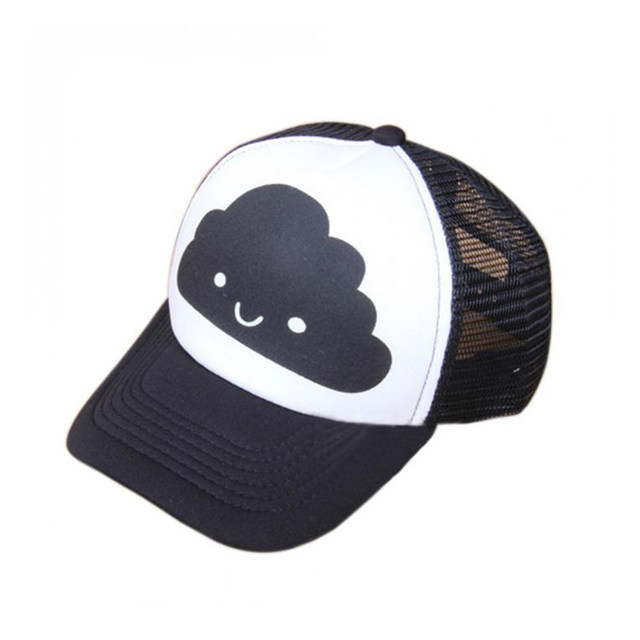 Online Shop Toddler Baby Black and White Baseball Cap Kids Cute Ear ... f1ea51ffb765