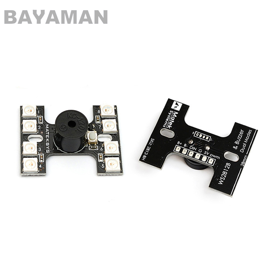 1pc Matek <font><b>LED</b></font> Tail <font><b>light</b></font> WS2512B With Loud Buzzer Lost <font><b>Plane</b></font> Finder Dual Modes For <font><b>RC</b></font> Multicopter Drones image