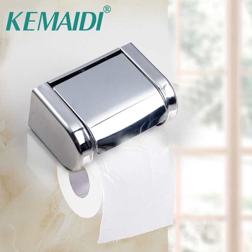 KEMAIDO New Lavatory /Toilet Paper Holder Support Paper Wall Mount Tissue Box Bathroom Accessaries