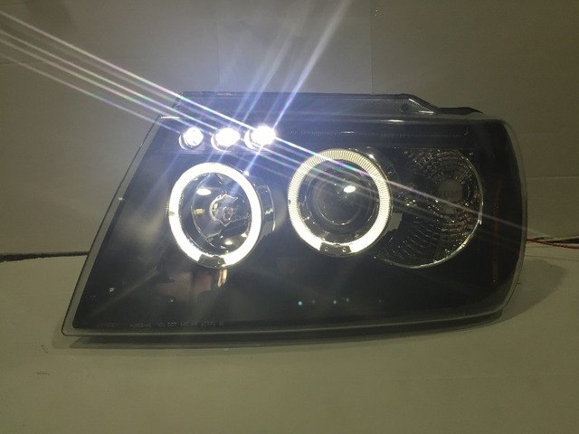 Fett Lights For Jeep For Grand Cherokee LED Headlight With Angel Eyes H7 Or  D2H Xenon