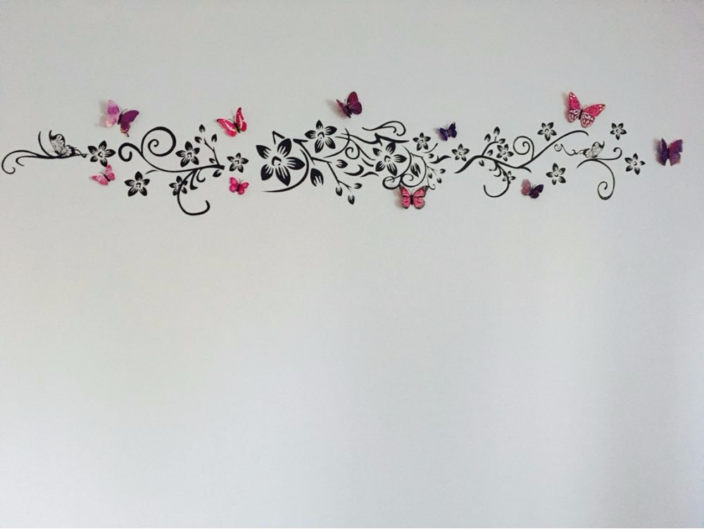 Hot DIY Wall Art Decal Decoration Fashion Romantic Flower Wall Sticker/ Wall Stickers Home Decor 3D Wallpaper Free Shipping 10