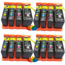 16pk color inktcartridge bk/c/m/y voor compatibel lexmark 100xl100 xl pinnacle pro901 interpreteren s402 s405(China)