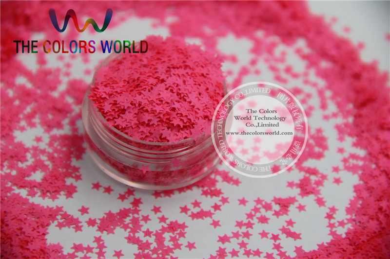 Solvent resistant Sparkles-Neon  Pink  Color Stars-shaped Glitter Confetti for Nail Polish and DIY decoration 1Pack =50g wrangler wrangler wr224emjas30