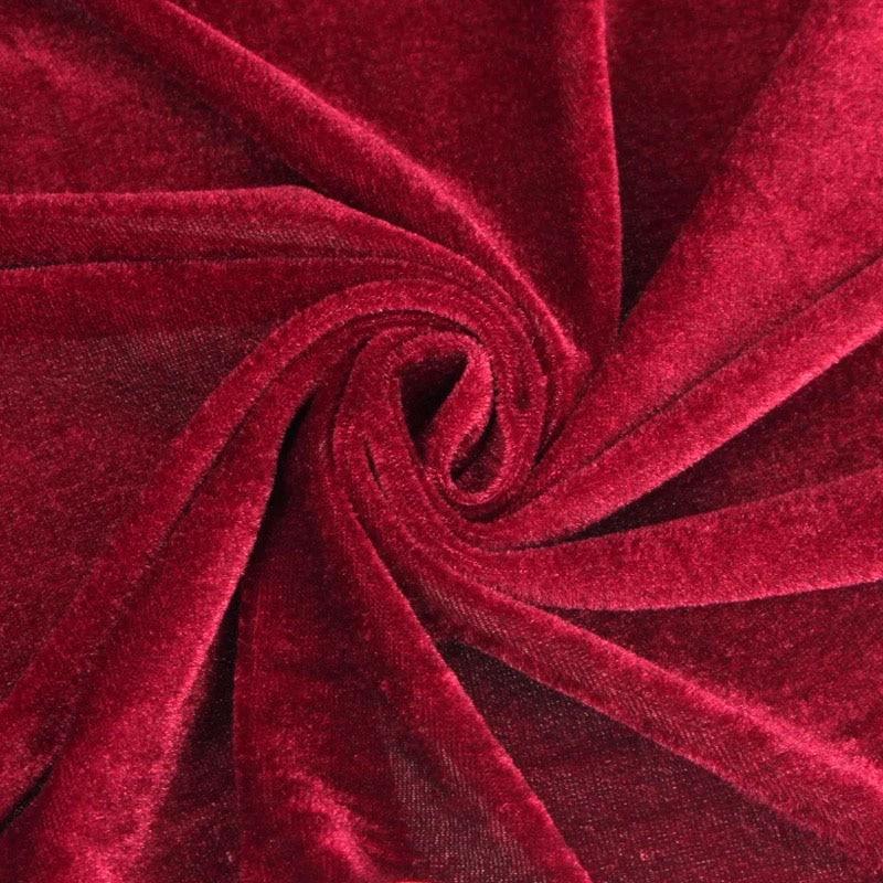 160 Cm Tappezzeria Tessuto In Velluto Rosso Nero Tessuto Abito Di