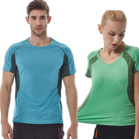 Good Value High Quality Sports T Shirt Men Women Quick Dry Breathable Round Neck Shirt Slim