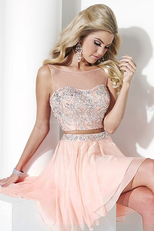 Popular Pink Prom Homecoming Dresses Cute-Buy Cheap Pink Prom ...