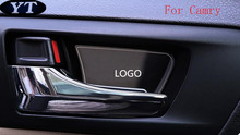 Auto Door Inner Bowl Sticker interior moulding for Toyota Camry 2015 ,4pcs/lot, free shipping