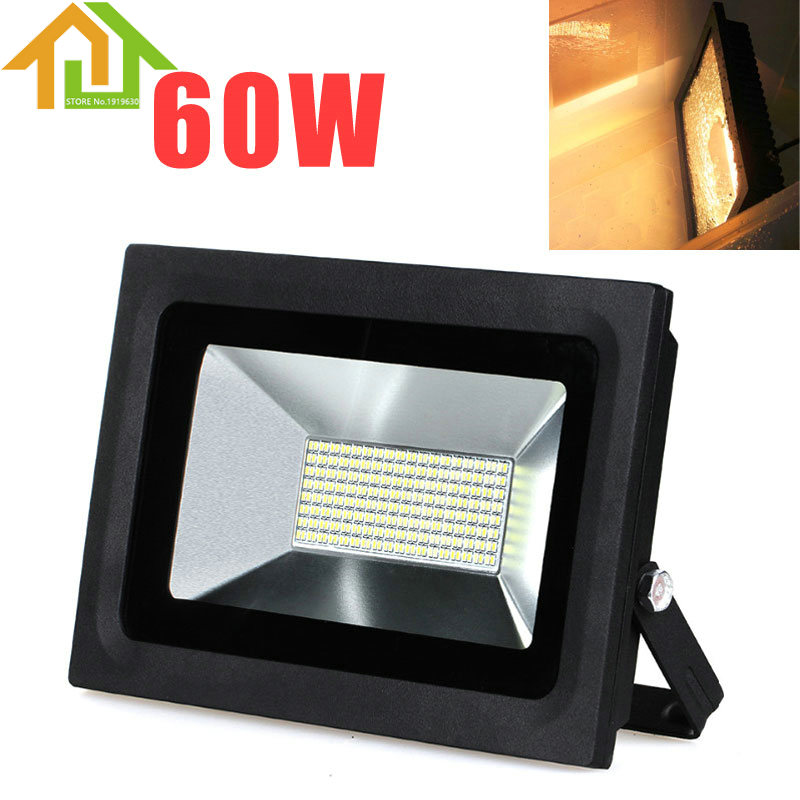 60W AC85-265V 288 LED FloodLight Reflector Flood Light Spotlight Waterproof Outdoor Wall Lamp Projectors 1pcs 100w led floodlight 2pcs 50w chip waterproof outdoor led flood light ac85 265v outdoor led spotlight outside led reflector