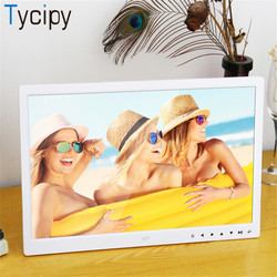 Tycipy 15 Digital Photo Frame LED Electronic HD LCD Screen Photo Frame for Music Mp3 Video Mp4 with Remote Control White Black