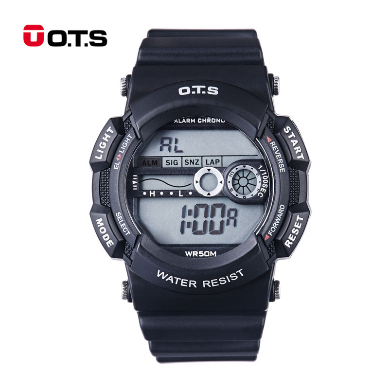 O.T.S Children Watches Waterproof Sport Boys Reloj de estudiante LED Display Multi-function Kids Electronic Wristwatches 31