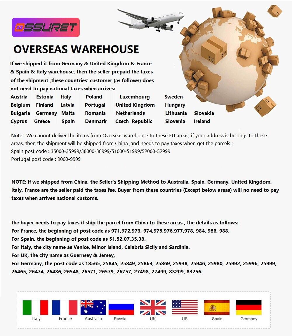 Ossuret shipment Rules