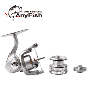 Image 4 - ANYFISH MICRO POWER fishing reel spinning 500/800 pesca carretilha small fishing wheel Winter Ice Fishing mini spinning reels
