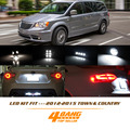 2 Pcs Branco License plate LED Interior Luz Kit Pacote Para Chrysler 2012-2015 Town & Country