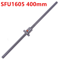 Free Shipping SFU1605 400mm RM1605 400mm Rolled Ball Screw 1pc 1pc Ball Nut For SFU1605 No