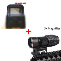 552 Holographic Red Dot Sight Reflex +3X Magnifier Scope Compact Tactical Sight with 20mm Airsoft Rifle Rail Mount RL5 2