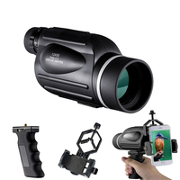 Telescope Monocular For Hunting 13x Waterproof High Power with Phone Adapter Handle Case Accessories BNISE Professional Optics