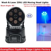 4 teile/los Mini LED Moving Head Laser Licht 6X8 watt RGBW Quad Farbe LED Waschen Lichter Mit 19/14 chs Für Professionelle Bühne Dj Lichter-in Bühnen-Lichteffekt aus Licht & Beleuchtung bei