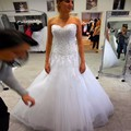 Robe de Mariage 2017 Tulle Wedding Dress Sweetheart Off Shoulder Applique Sleeveless Wedding Gown Custom Made
