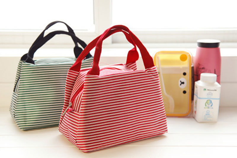 2017 Whole In Stripe Cooler Bags Food Carrier Bag Organizer Cases Made Of Polyester Are Available Stock C0069 Cosmetic From Luggage