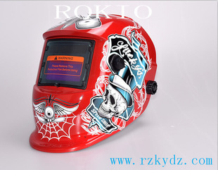 Cool looking skull pirate death dot welding helmet / welding mask / welding cap cool stylish skull mask golden black