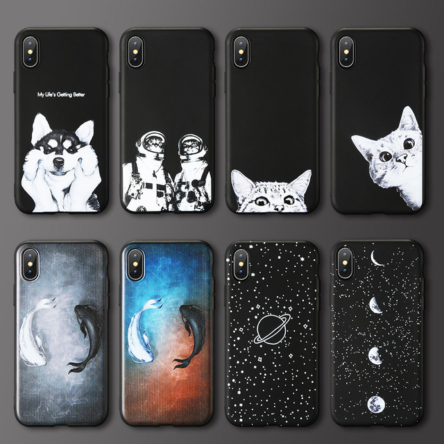 85498b683a KISSCASE Cute Cat Dog Animal Case For iPhone 6 6S 7 8 Plus 5 5S Se ...