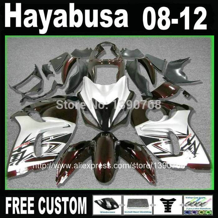 Injection mould fairing kit for SUZUKI Hayabusa fairings GSXR1300 2008-2014 red white black plastic  set  08-12 TX13 цена 2017