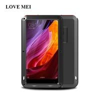 Original Love Mei Armor Cover Waterproof Case For Xiaomi Mi Mix 2 Fundas Housing Metal Stand