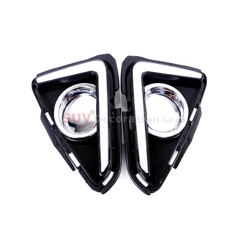 Image 5 - For Toyota RAV4 2016 2017  2018 Exterior LED Daytime Running Lights Day Fog light Lamp 2pcs-in Interior Mouldings from Automobiles & Motorcycles
