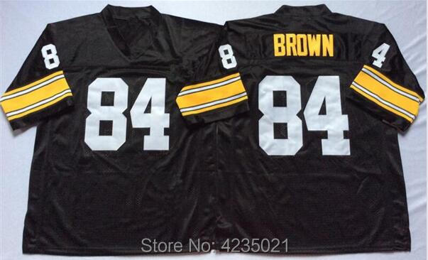 Mens 84 Antonio Brown Embroidered Throwback Football Jersey Size M-XXXL ffe35b617