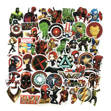 50pcs/1lot Avengers Alliance 3 Iron Man Funny Sticker Decal For Car Laptop Bicycle Motorcycle Notebook Waterproof Sticker(China)