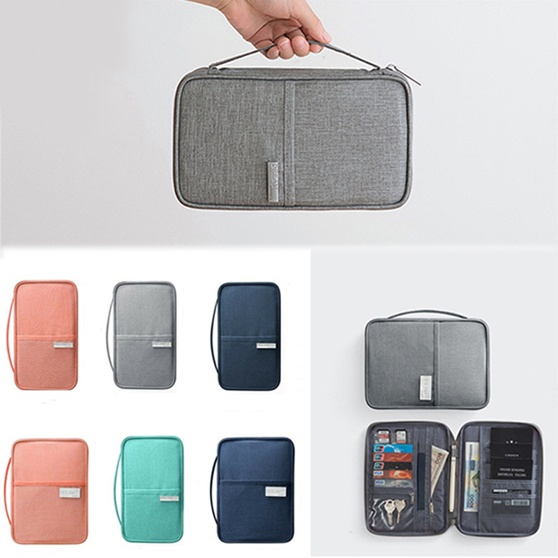Travel Document Package Passport Package Family Travel Organiser Passport Document Holder RFID Cards Tickets Wallet Pouch