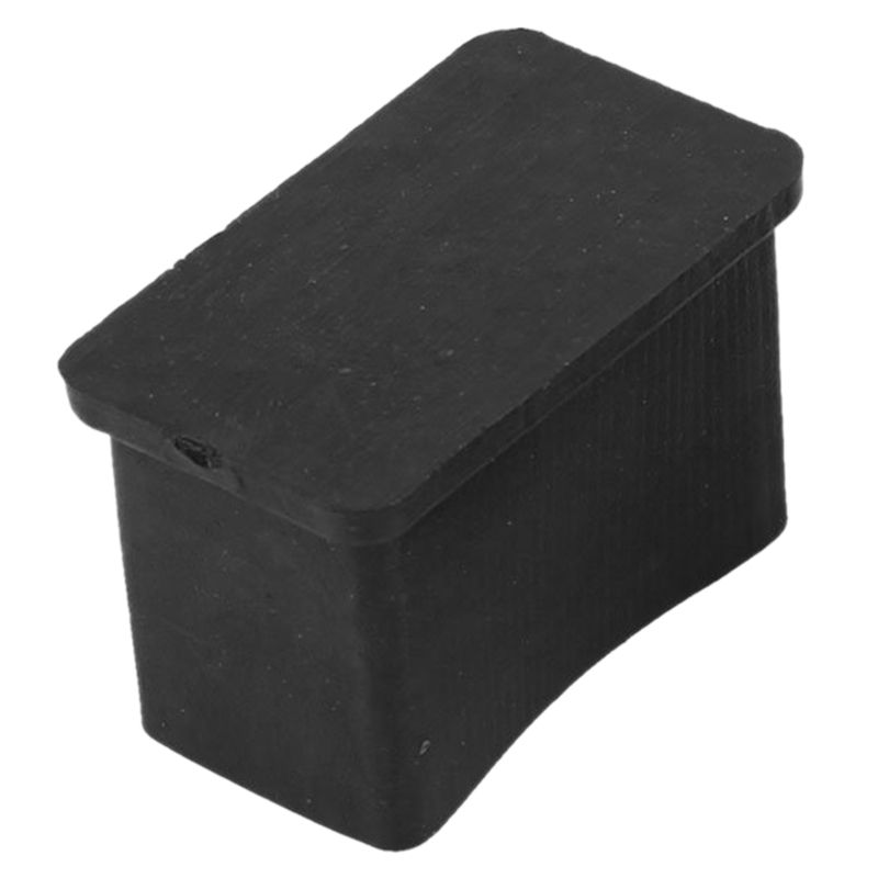 Hot Sale Rectangular Rubber Protections For Furniture Chair Legs 30mm X 15mm 2 Pieces